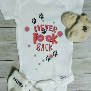 Never look back baby onesie kids clothing